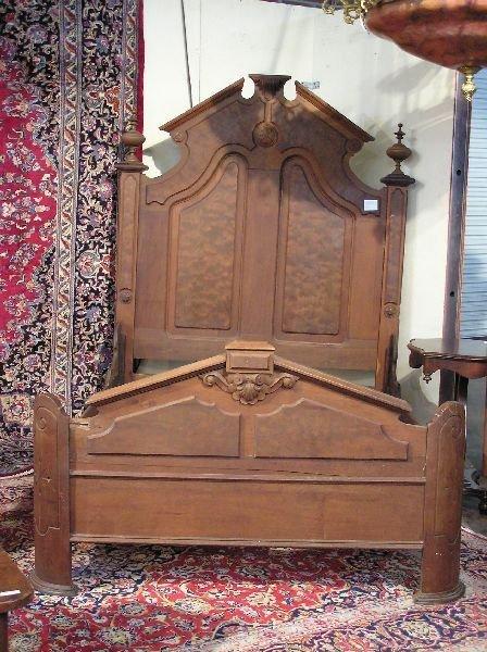 14: Victorian Walnut High Back Bed
