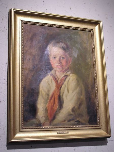 15: Oil on Canvas of a Little Boy