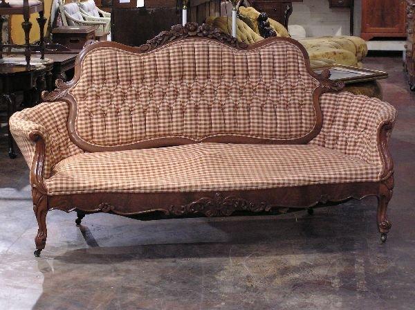 16: Victorian Rose Back Walnut Sofa