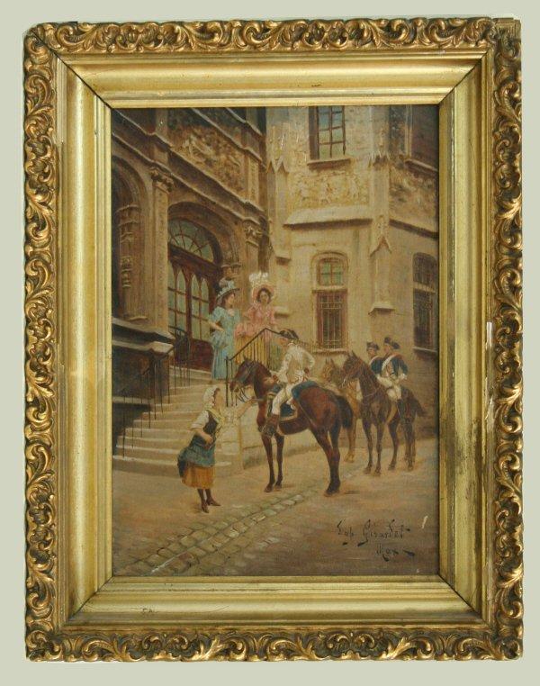 1005: Jules Girardet Transfer on Canvas