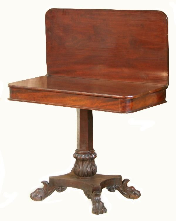 1006: Empire Mahogany Lift Top Game Table