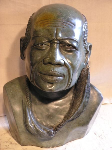 1013: Hand Carved Bust of a Man