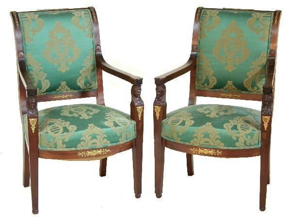 1014:  Pair of French Empire Chairs