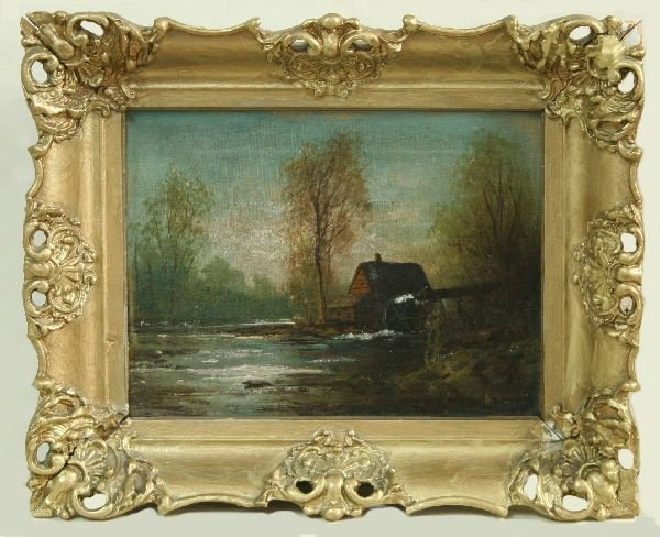 1015: Oil on Canvas of a Landscape Signed Hillman