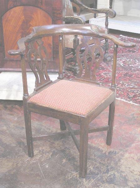 1018: Early English Mahogany Corner Chairs