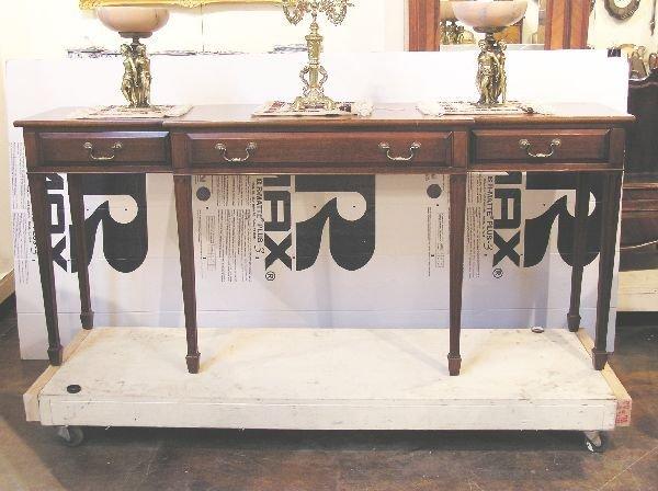 1024: Custom English Mahogany Serving Table
