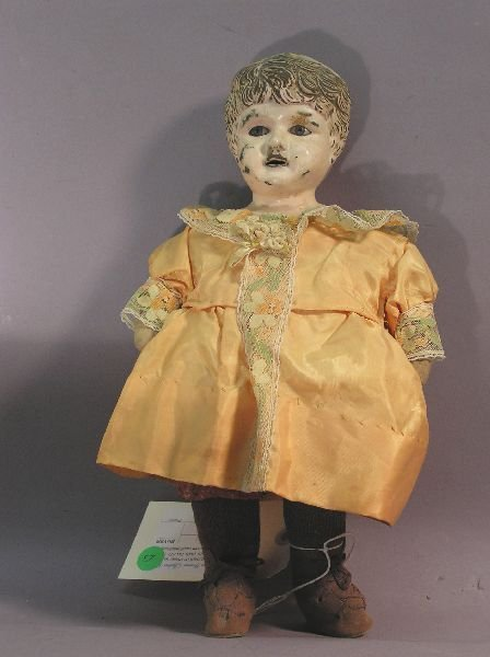 13: Antique Doll with Tin Head