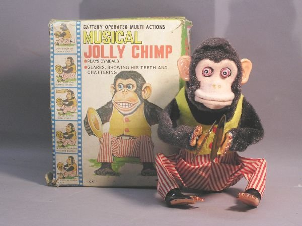 """18: Battery Operated """"Musical Jolly Chimp"""""""
