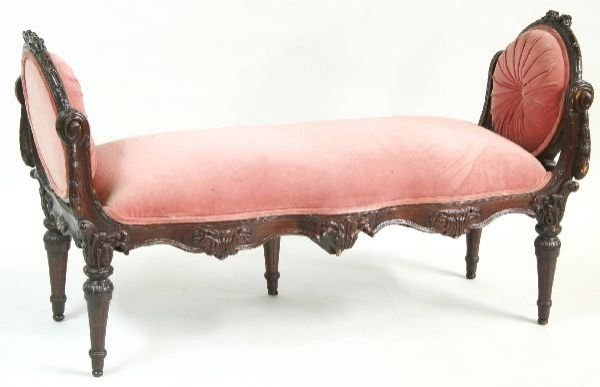 1002: French Carved Bed Bench