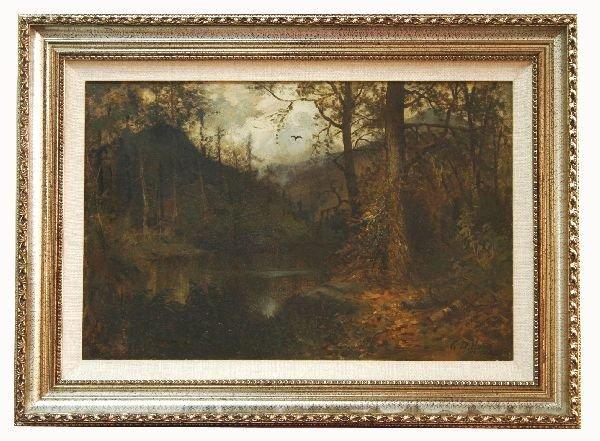 1005: Artist Signed Oil on Board Landscape