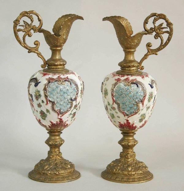 1007: Pair of Rorstrand Porcelain Ewers