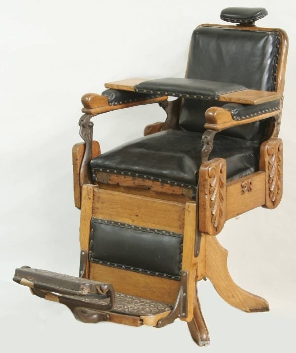 1012: Oak Barber Chair