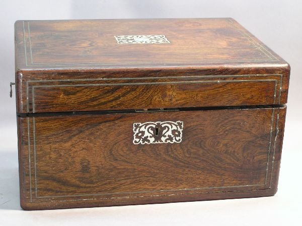 1023: Fitted Dresser Box with Mother of Pearl Inlay