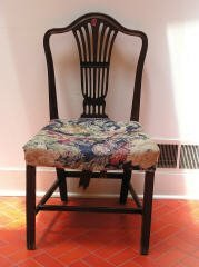 22: Mahogany Chair with Upholstered Seat  R39