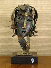 26: Abstract Copper Bust of a Woman  B90
