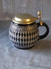 Blue and White Stein Type Container 303-167