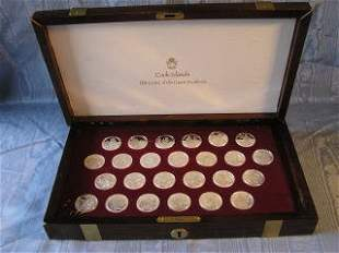 Great Explorers Coins in Wood Box 87-135