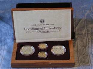 Boxed Collection of Olympic Coins 87-136