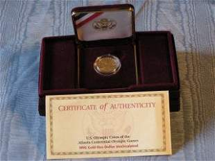 1996 Olympic $5.00 Gold Coin 87-137