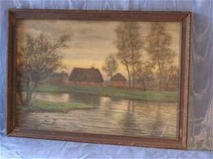 Watercolor signed Louis Heitmuller 303-63