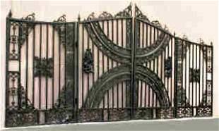 Ornate Wrought Iron Driveway Gates 204