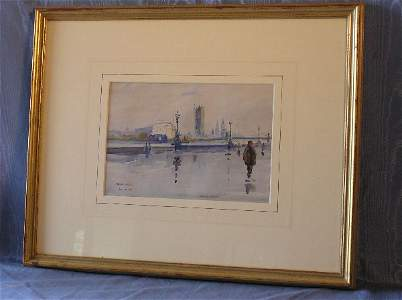 """2072: Watercolor Artist Signed """"Walter Taylor""""  303-1"""