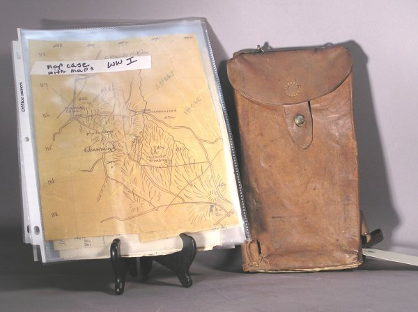 1: WWI Leather Field Map Case