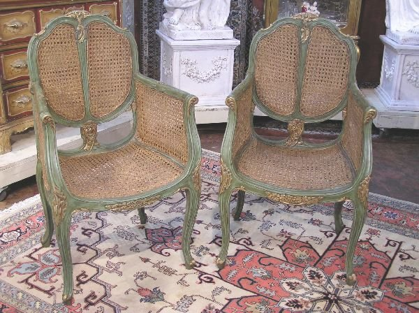 1004: Pair of French Arm Chairs