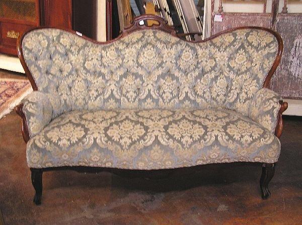 1012: Victorian Walnut Sofa