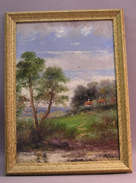 1015: Pair of Oil on Canvas Landscapes Artist Signed