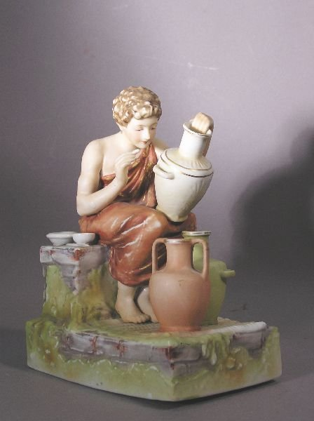 1023: Pair of Hand Painted Porcelain Figures