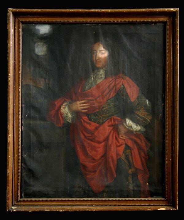 1075: Oil on Canvas Portrait of a Gentleman