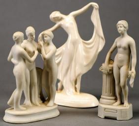 Antique Lot of German Art Nouveau Figurines
