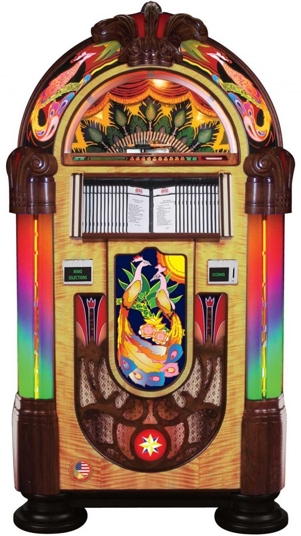 Awesome Rock-Ola Peacock Jukebox TOP CONDITION