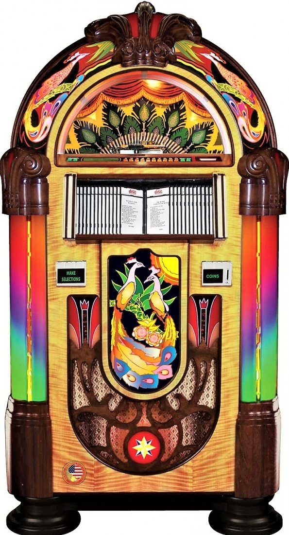 Awesome Rock-Ola Peacock Jukebox TOP CONDITION - 9