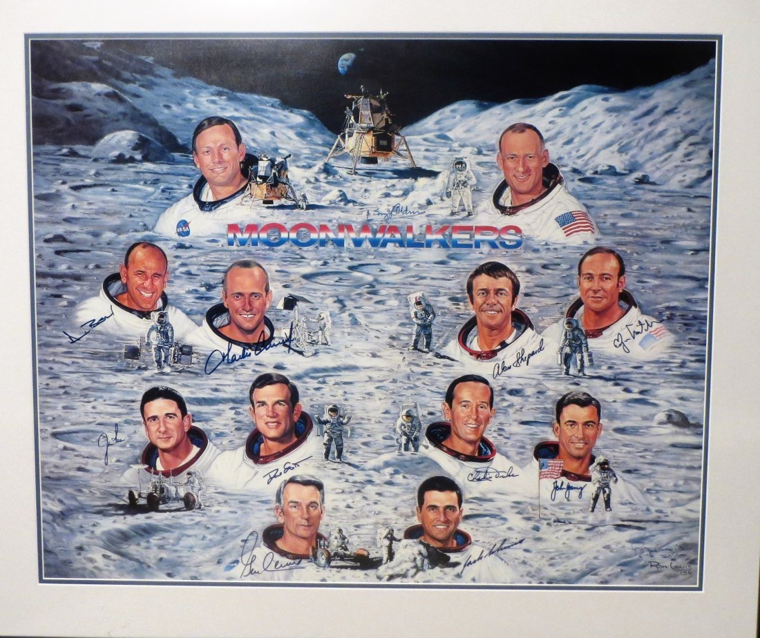 1962-1971 MoonWalkers Litho Hand Signed 11 of the 12 #
