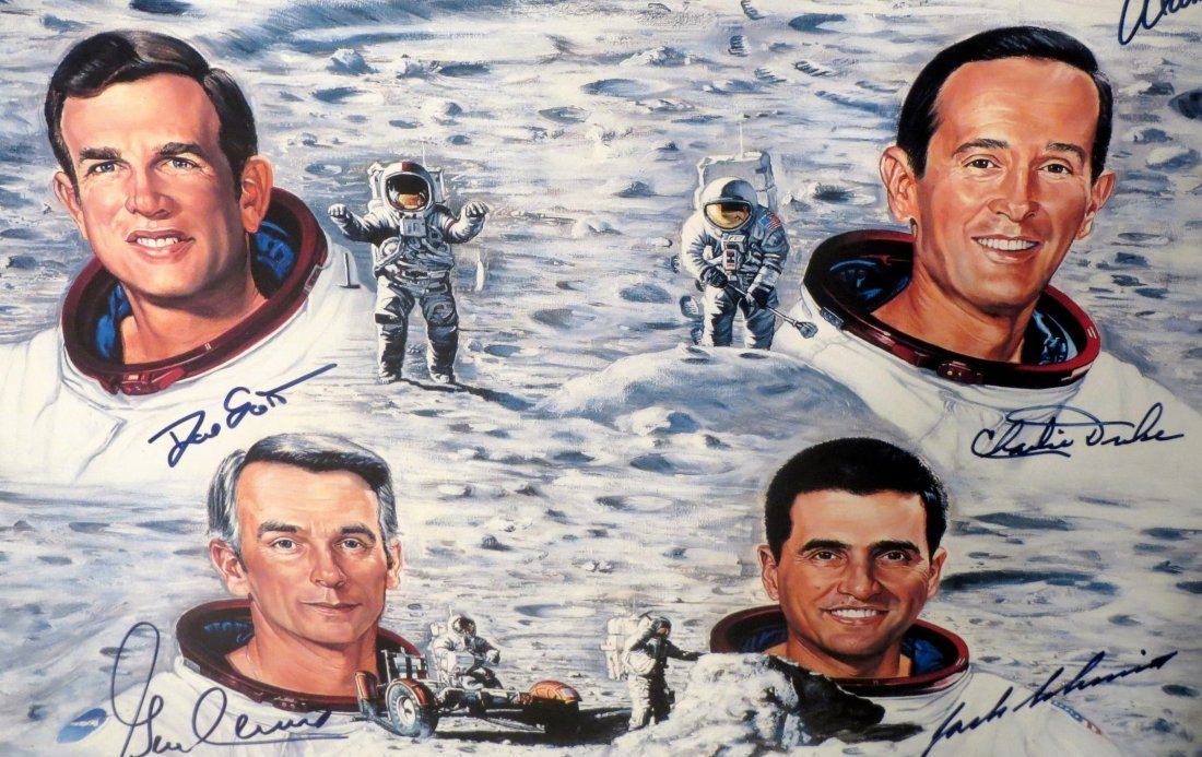 1962-1971 MoonWalkers Litho Hand Signed 11 of the 12 # - 3