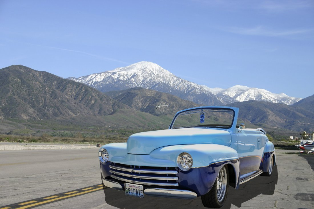 Beautiful Blue 1948 Ford Convertible Super Coupe 9/10