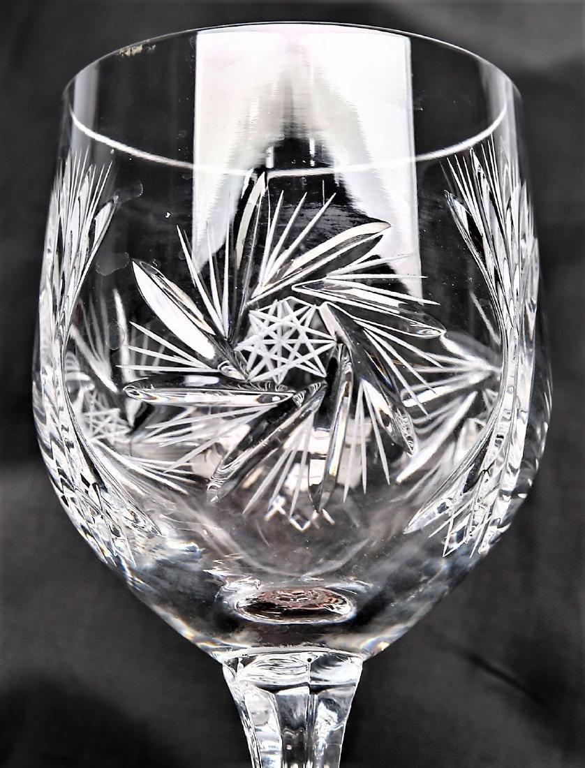Czechoslovakian Cut Crystal Stemware group Pinwheel 26 - 2