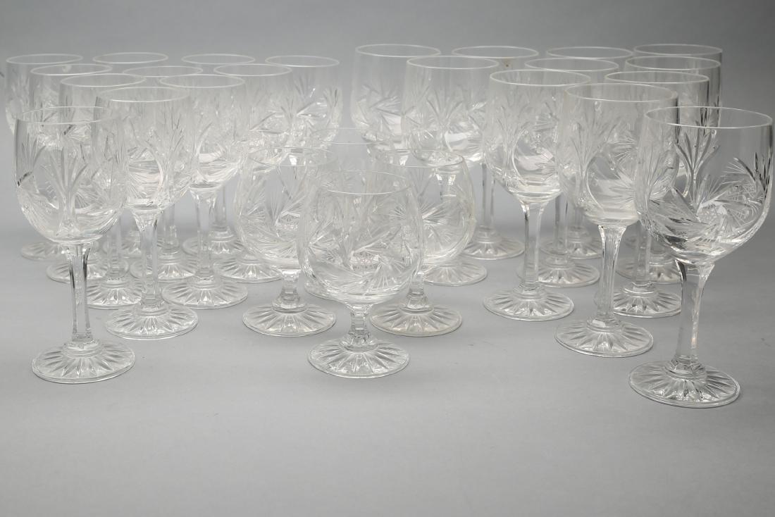 Czechoslovakian Cut Crystal Stemware group Pinwheel 26 - 3