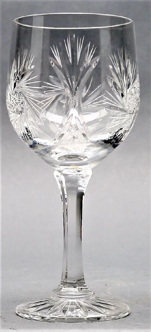 Czechoslovakian Cut Crystal Stemware group Pinwheel 26 - 4