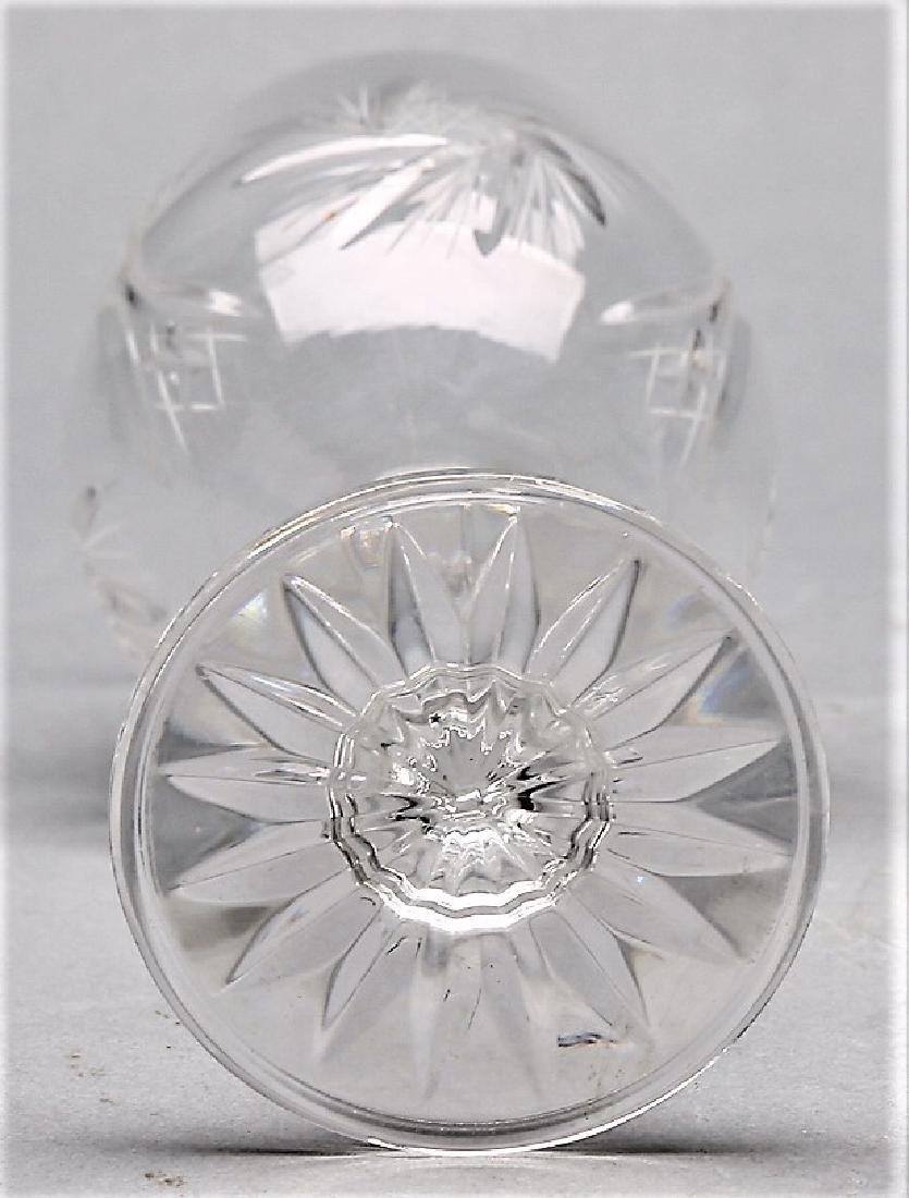 Czechoslovakian Cut Crystal Stemware group Pinwheel 26 - 5