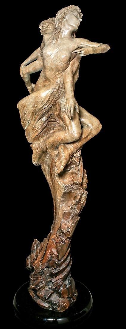 "Beautiful 84"" Martin Eichinger ""Rapture"" Bronze Statue"