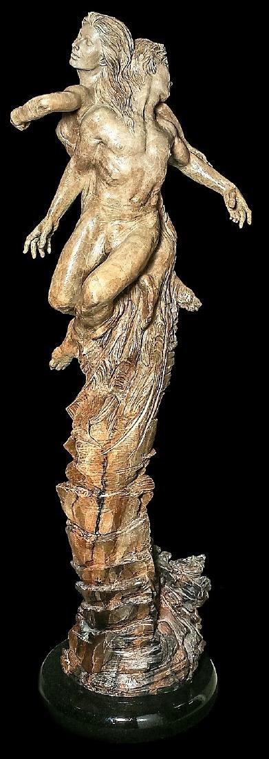 "Beautiful 84"" Martin Eichinger ""Rapture"" Bronze Statue - 2"