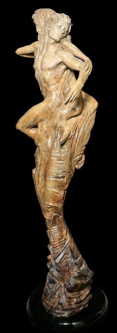 "Beautiful 84"" Martin Eichinger ""Rapture"" Bronze Statue - 3"