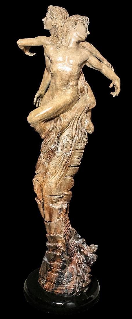 "Beautiful 84"" Martin Eichinger ""Rapture"" Bronze Statue - 4"