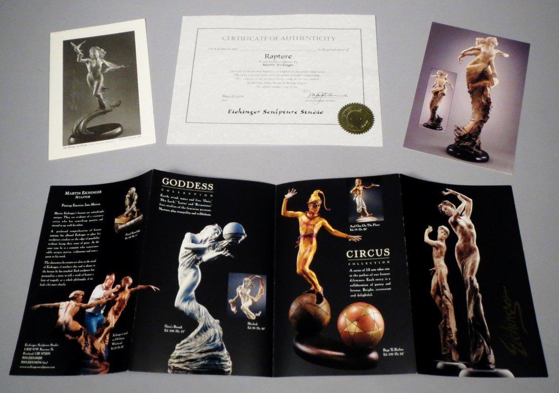 "Beautiful 84"" Martin Eichinger ""Rapture"" Bronze Statue - 6"