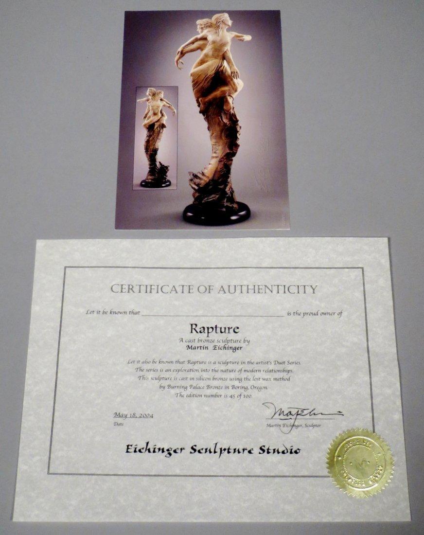 "Beautiful 84"" Martin Eichinger ""Rapture"" Bronze Statue - 7"
