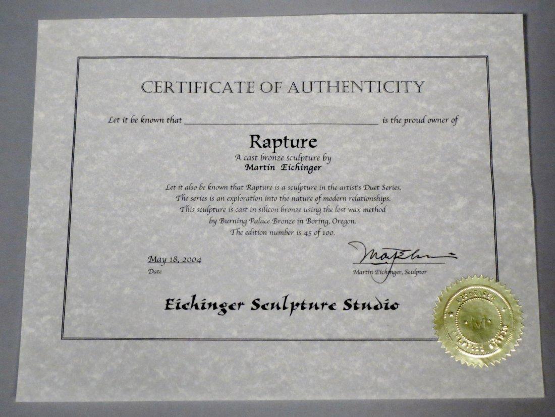"Beautiful 84"" Martin Eichinger ""Rapture"" Bronze Statue - 8"