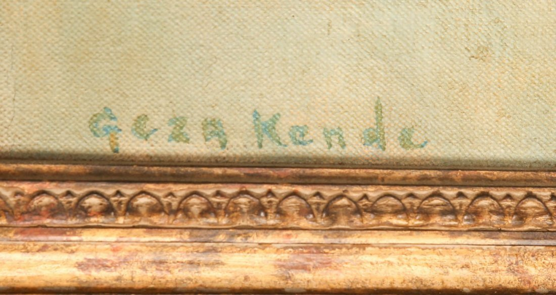"Geza Kende Oil Painting On Canvas ""Siesta"" - 3"